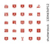 wide icon set. collection of 25 ... | Shutterstock .eps vector #1304656912