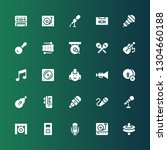 musical icon set. collection of ... | Shutterstock .eps vector #1304660188