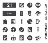 dvd icon set. collection of 21... | Shutterstock .eps vector #1304663635