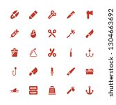 sharp icon set. collection of... | Shutterstock .eps vector #1304663692