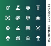 aspirations icon set.... | Shutterstock .eps vector #1304664358