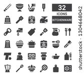 kitchenware icon set.... | Shutterstock .eps vector #1304668042