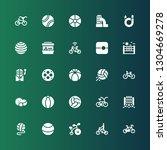 recreational icon set.... | Shutterstock .eps vector #1304669278