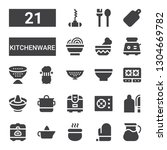 kitchenware icon set.... | Shutterstock .eps vector #1304669782