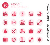 heavy icon set. collection of... | Shutterstock .eps vector #1304669962