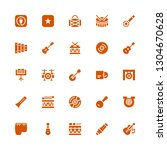 song icon set. collection of 25 ... | Shutterstock .eps vector #1304670628
