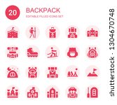 backpack icon set. collection... | Shutterstock .eps vector #1304670748