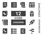 choosing icon set. collection... | Shutterstock .eps vector #1304673442