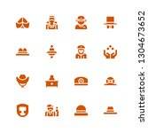 occupation icon set. collection ... | Shutterstock .eps vector #1304673652
