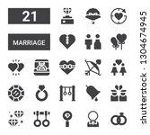 marriage icon set. collection... | Shutterstock .eps vector #1304674945