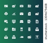 letter icon set. collection of... | Shutterstock .eps vector #1304675608
