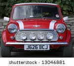 classic red mini front taken at ...