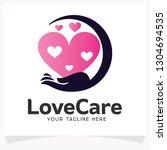 love care logo design template... | Shutterstock .eps vector #1304694535