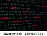 on screen of pc monitor string...   Shutterstock . vector #1304697985