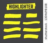 yellow highlighter marker... | Shutterstock .eps vector #1304698108