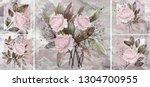 collection of designer oil... | Shutterstock . vector #1304700955