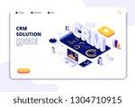 crm concept. customer... | Shutterstock .eps vector #1304710915