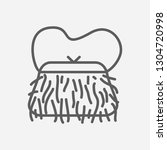 muff bag icon line symbol....