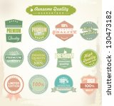 premium quality and guarantee... | Shutterstock .eps vector #130473182