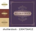 luxury logo template vector... | Shutterstock .eps vector #1304736412