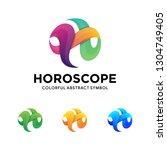 modern twisted  letter h logo.... | Shutterstock .eps vector #1304749405