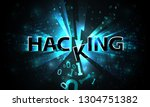 abstract hacking system  hacker ... | Shutterstock .eps vector #1304751382