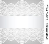 pearl frame and lace background | Shutterstock .eps vector #130475912