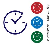 blue clock with arrow icon... | Shutterstock .eps vector #1304761588
