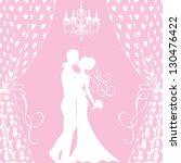 Wedding Card With Kissing Groom ...