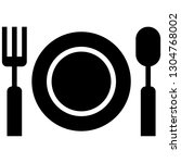 icon shows fork  spoon and... | Shutterstock .eps vector #1304768002