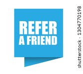 refer a friend speech bubble....