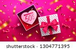 valentine's day sale poster or... | Shutterstock .eps vector #1304771395