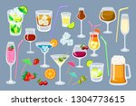 set of coctails. classic... | Shutterstock .eps vector #1304773615