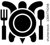 icon shows fork  spoon  plate... | Shutterstock .eps vector #1304774248