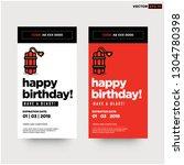 happy birthday voucher card... | Shutterstock .eps vector #1304780398