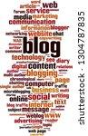 blog word cloud concept. vector ... | Shutterstock .eps vector #1304787835