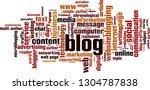 blog word cloud concept. vector ... | Shutterstock .eps vector #1304787838