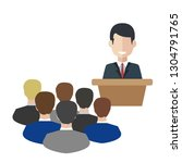 business man tribune speech... | Shutterstock .eps vector #1304791765