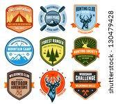 set of outdoor adventure badges ... | Shutterstock . vector #130479428