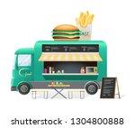 Street Van With Fast Food  Shop ...