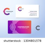 cooperation abstract vector... | Shutterstock .eps vector #1304801578