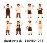 collection of cute smiling... | Shutterstock .eps vector #1304804095