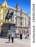 zagreb  croatia   july 17  2017 ... | Shutterstock . vector #1304813068