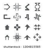 arrow sign icon set   Shutterstock .eps vector #1304815585