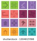 arrow sign icon set   Shutterstock .eps vector #1304815588