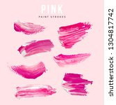 pink hand painted elements for...   Shutterstock .eps vector #1304817742