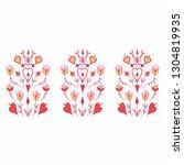 oranment in folk style. folk...   Shutterstock .eps vector #1304819935