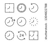 time and clock line icons.... | Shutterstock .eps vector #1304822788