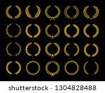 collection of different golden... | Shutterstock .eps vector #1304828488