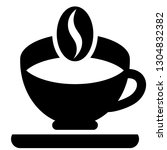 icon shows a coffee cup on a... | Shutterstock .eps vector #1304832382
